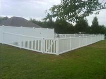 White Wooden Fence 2
