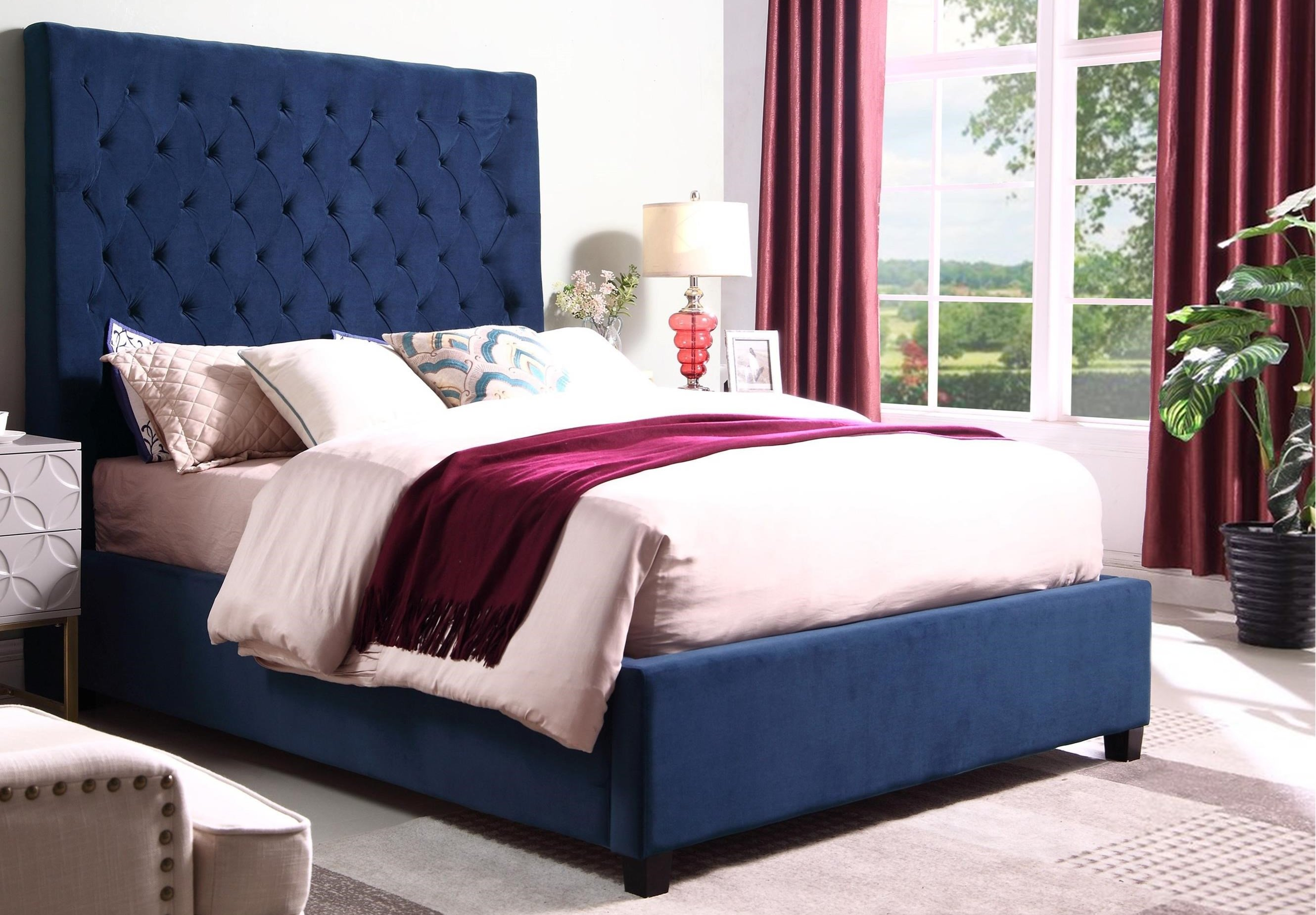 5113NV-K-W Aster Bed Navy