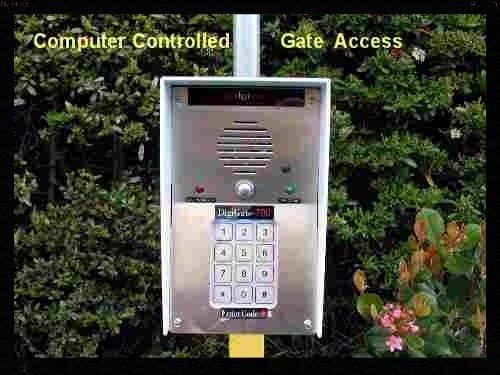 Gate keypad for access