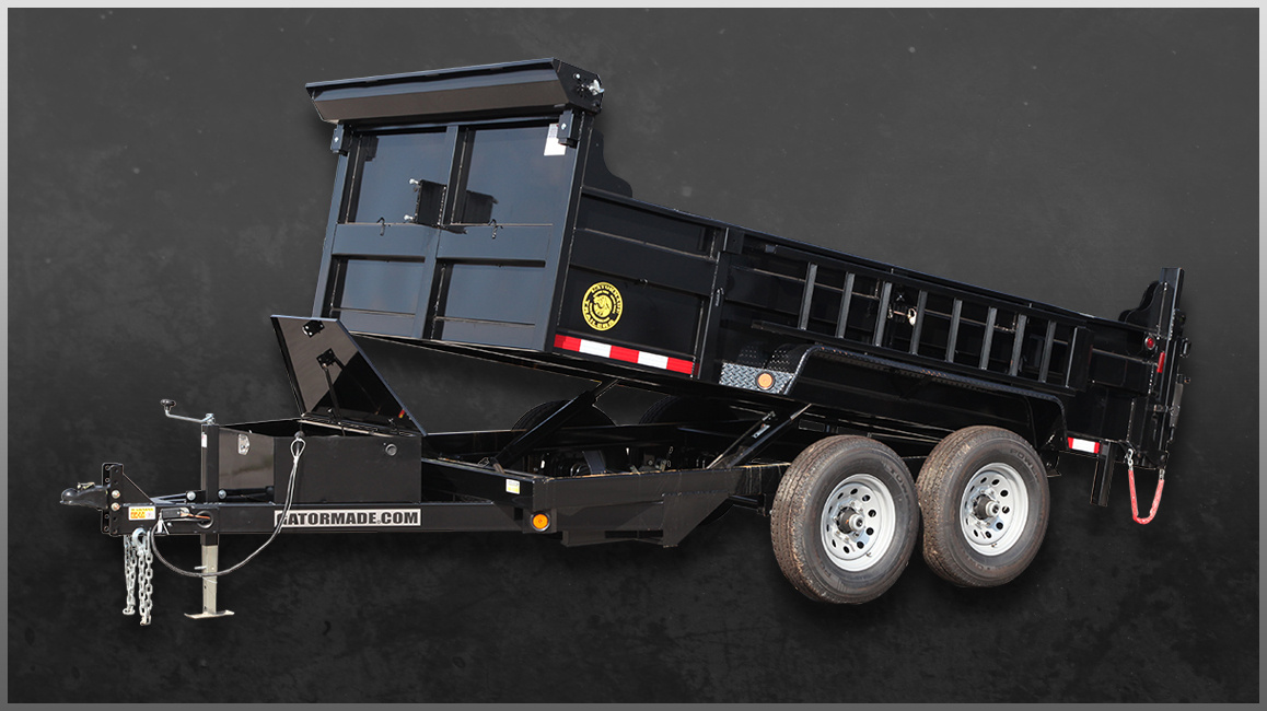 Dump Trailer 7'x12' (8000lb max) $85/half $110/day **tow vehicle must have braking system