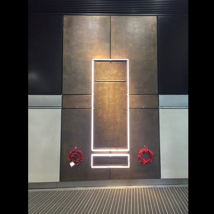 Metal coating projects by Artistic Metals | London Bridge Station War Memorial