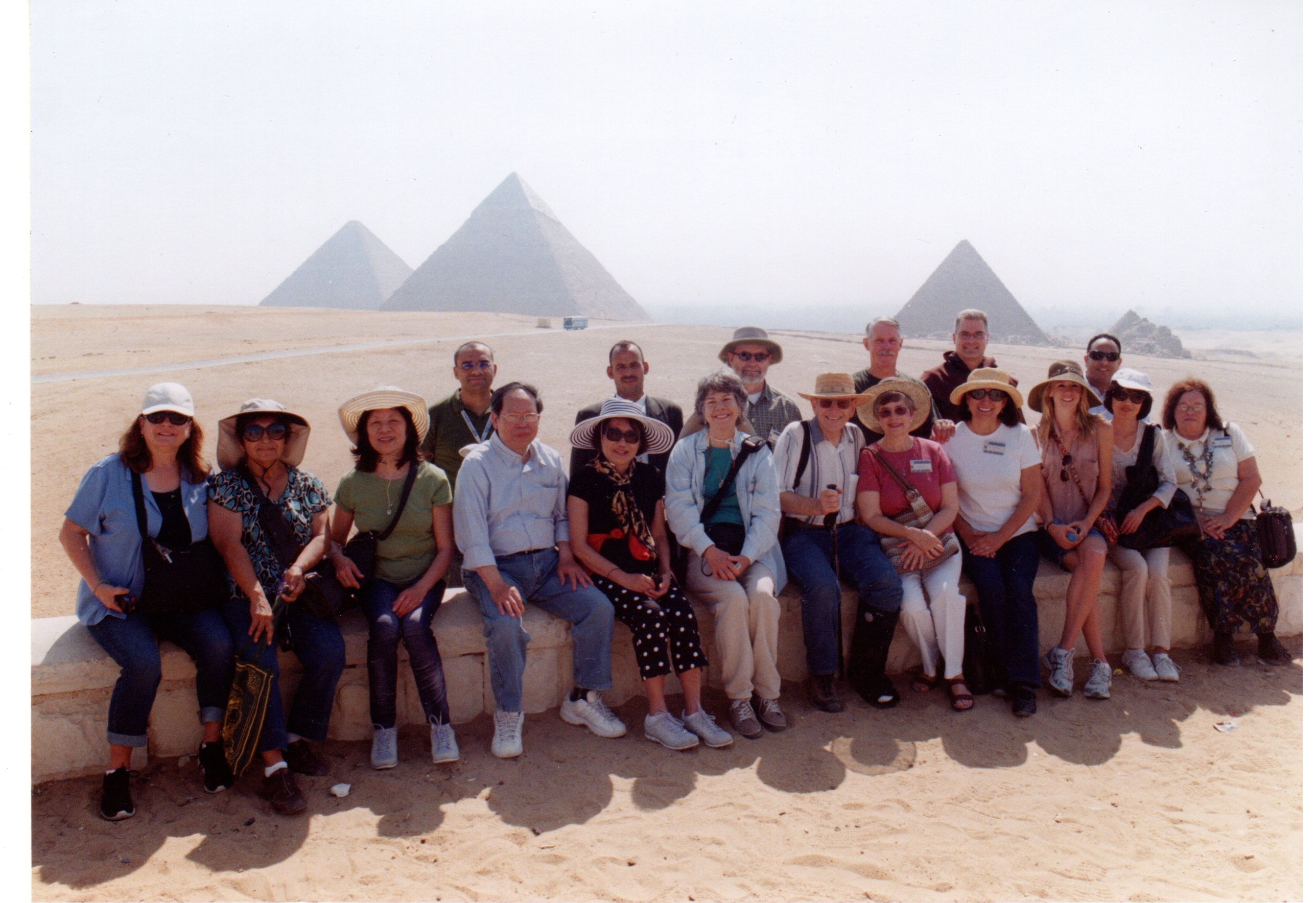 Group of Pilgrimes at the  Pyramids
