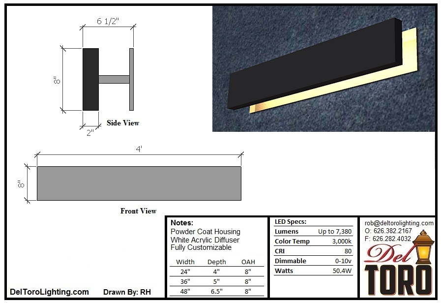 300W-Plank Wall Sconce