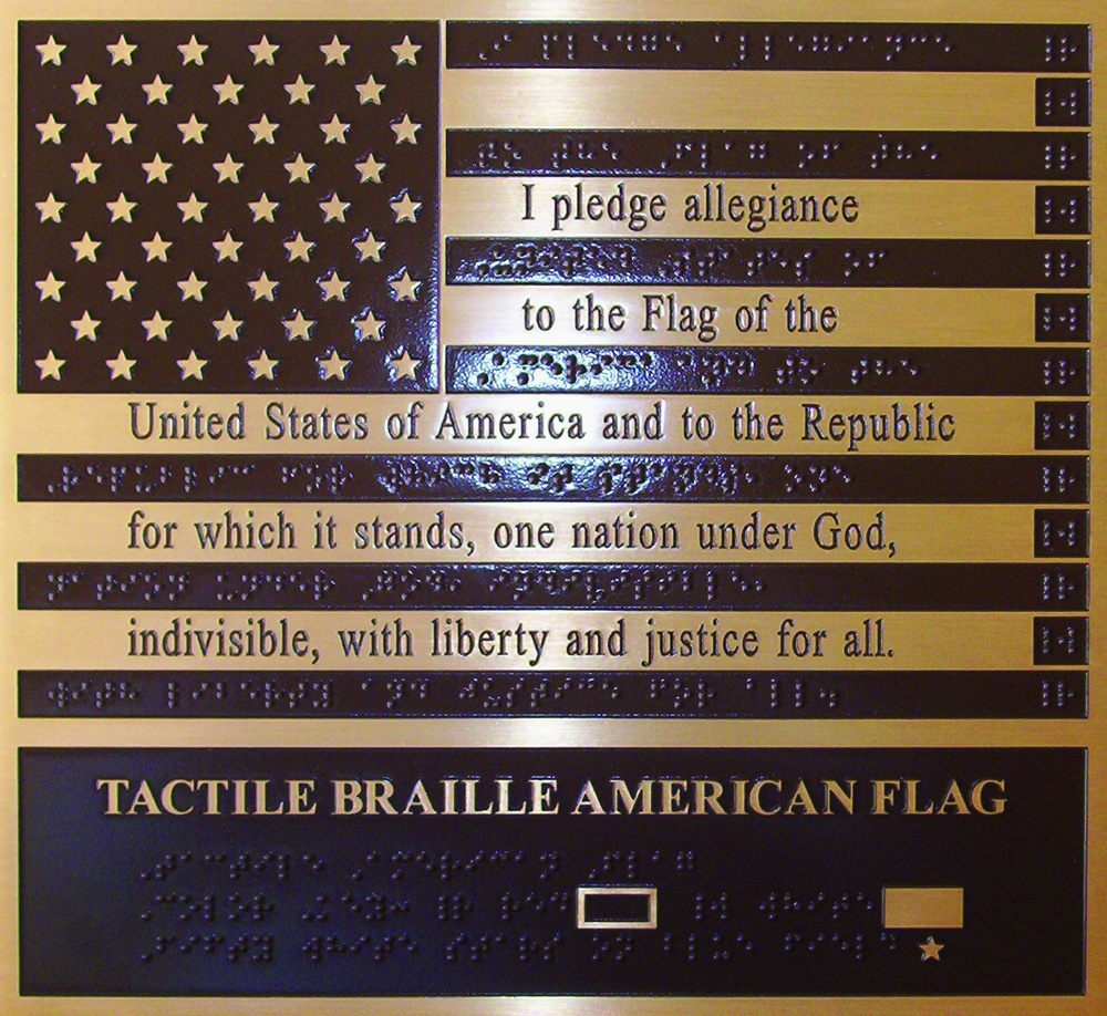 Bronze Braille American Flag