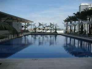 Lovely Pool at The Sail at Marina Bay, Singapore...one of 4 pools at our resort residence in the CBD.