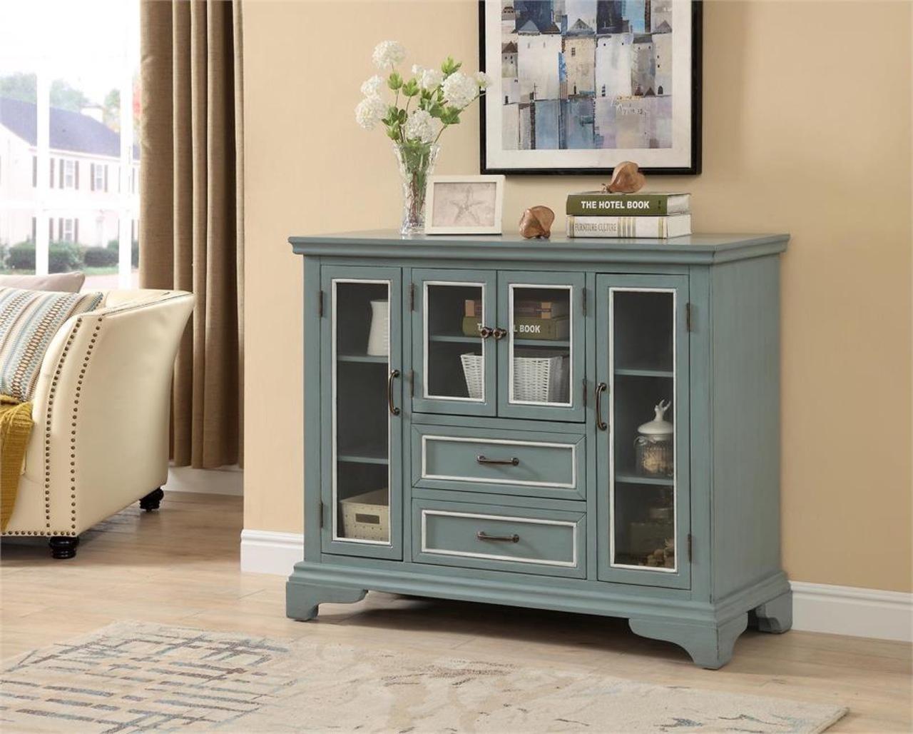 36609 Spring Blue Cabinet