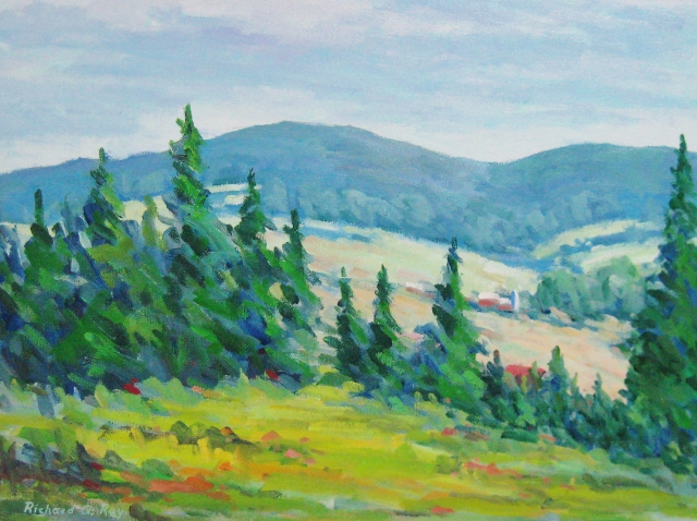 """Ray, West of Middletown, MD, 12"""" x 16"""" Oil on Canvas"""