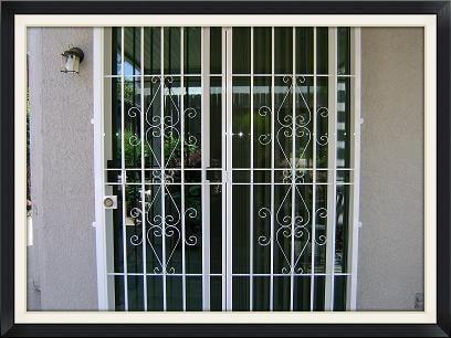 """Patio Door guard """"Elegante"""" Design No Screen"""