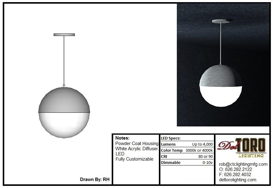 710P-Eyelid Globe Pendant
