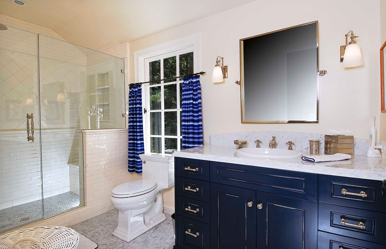 Blue Modern Bathroom