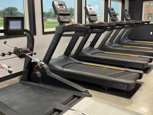 Wheelchair treadmill and regular treadmill.