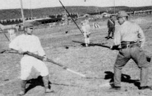 Nakamura sensei teaching in Manchuria ca 1944. (Photos courtesy Nakamura Taizaburo.)
