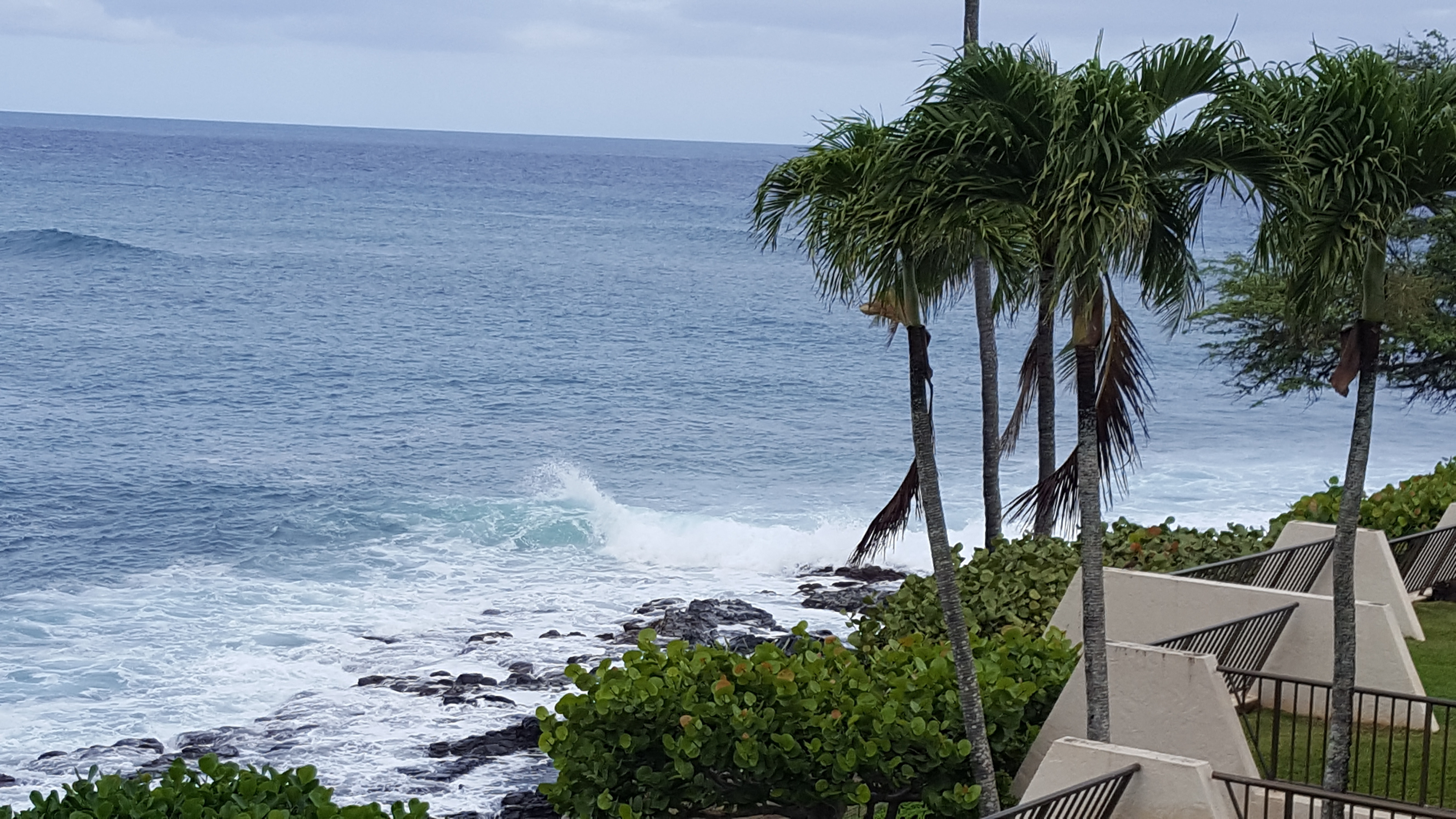 View of waves from balcony