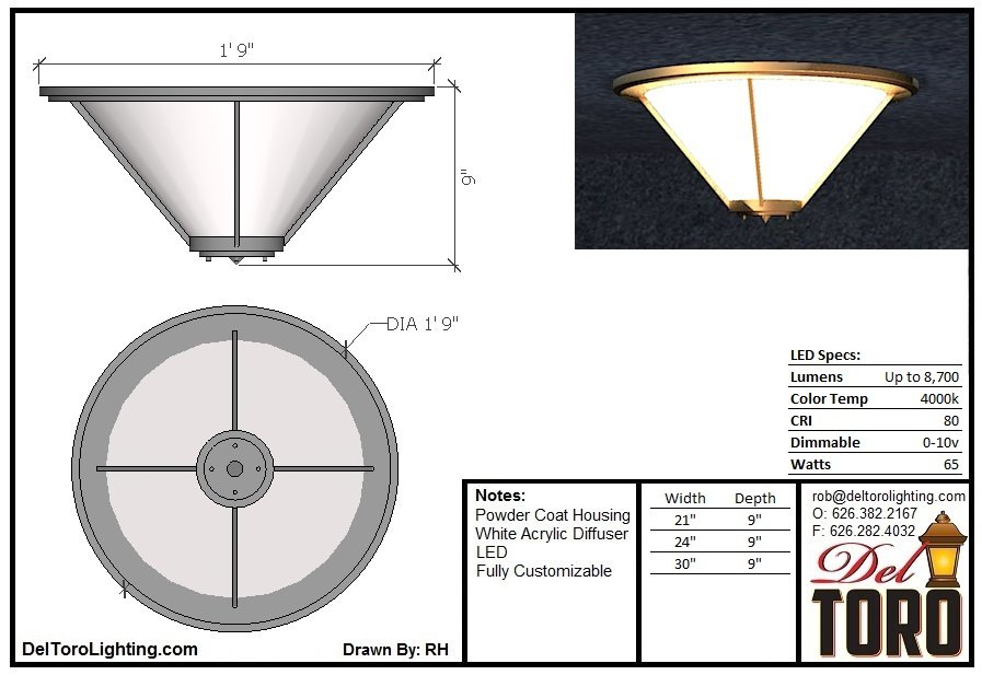 810C-Framed Cone Ceiling Mount