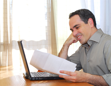 Person looking at tax statement