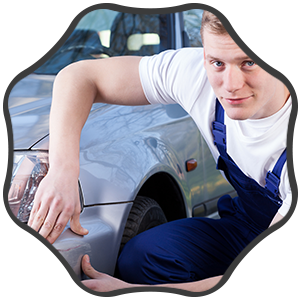 Mechanic Repairing Car Scratch
