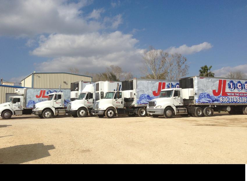 Five delivery trucks||||