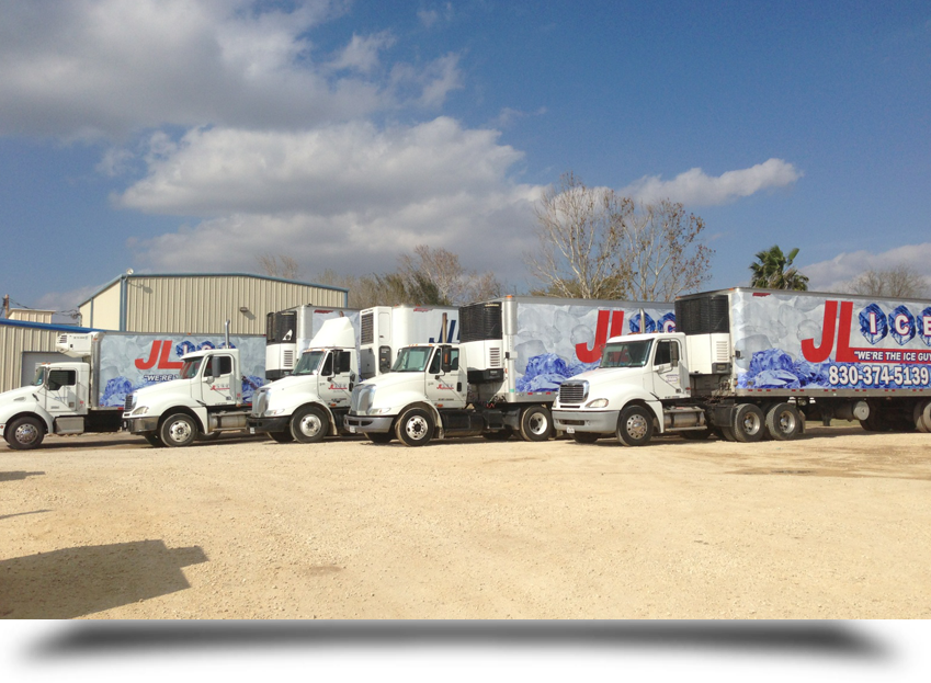 Five delivery trucks||||