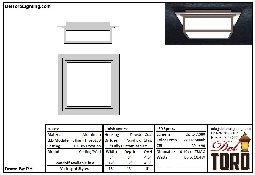 211C-Accent Box Flush Mount