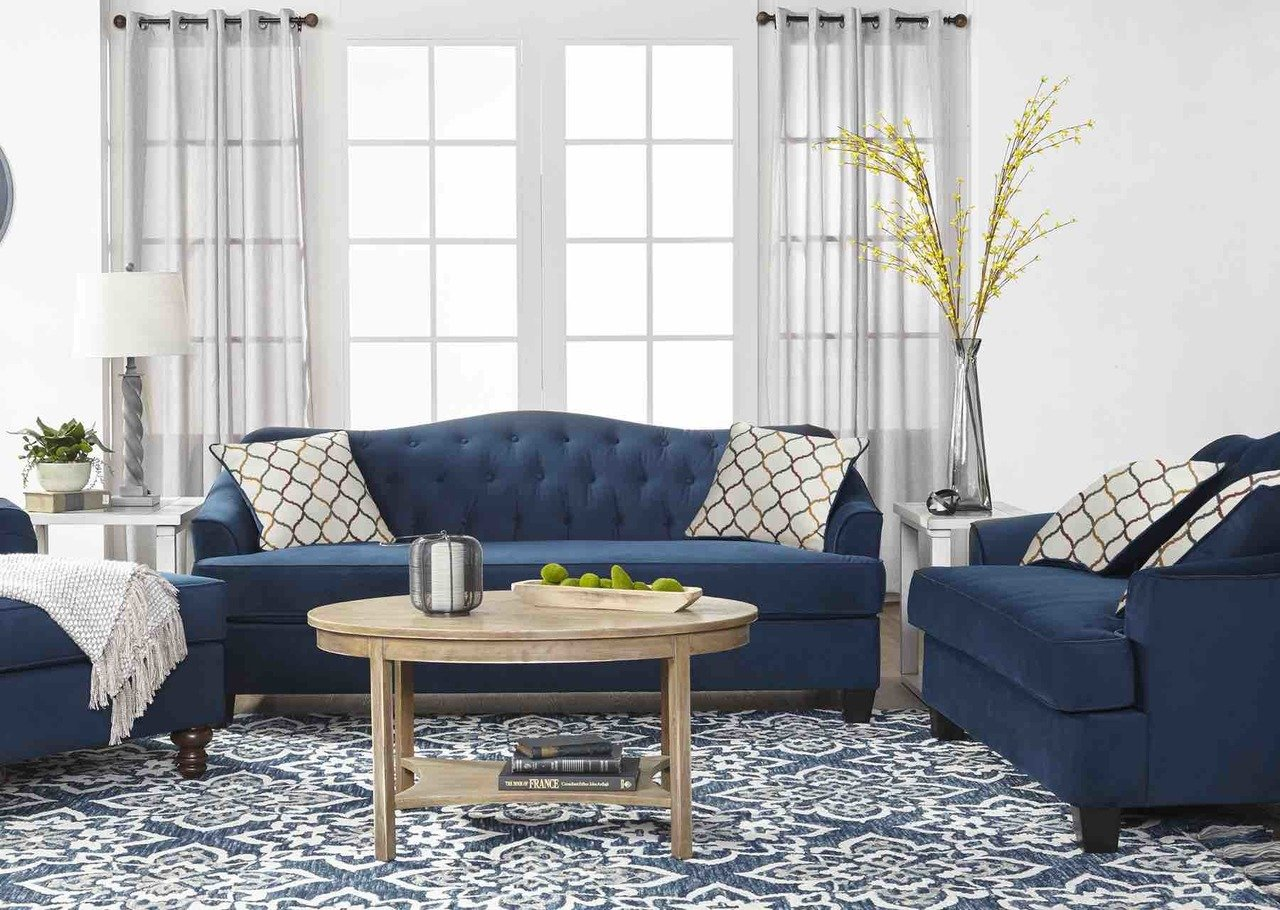 Serta 15700 Bing Indigo Sofa and Love Seat