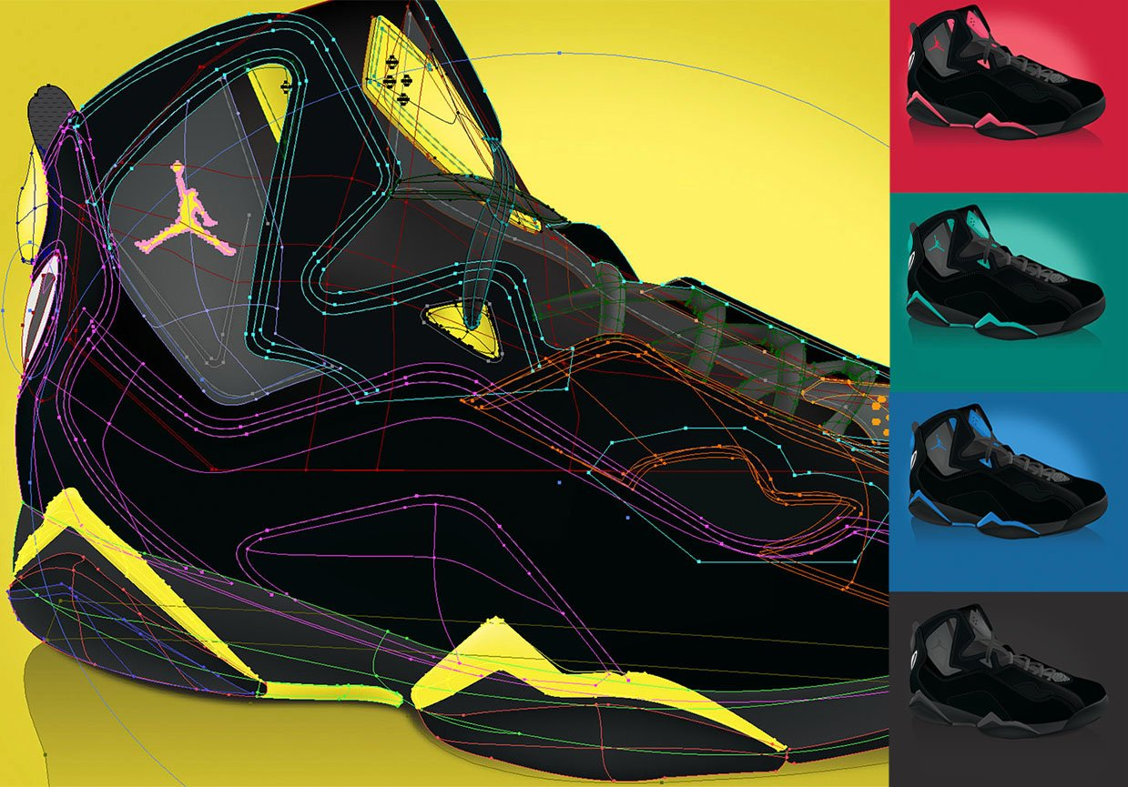 Vector Shoe Drawing