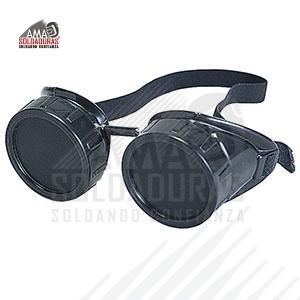 GOGGLE / GAFAS PARA OXICORTE SOMBRA NO.6 Tipo:Goggle Descripción: Gafas para soldar con cristales claros y obscuros sombra No. 6 . Máxima ventilación sin empañamiento. Cómodas y ligeras que se ajustan a cualquier tipo de cara. Utilizada en proceso de soldar y corte de oxiacetileno para trabajos continuos. Norma: ANSI/ISEA Z87.1-2010