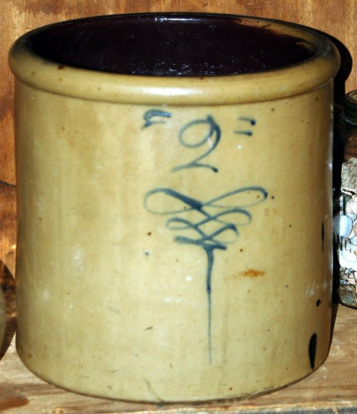 2 Gallon salt glaze crock||||