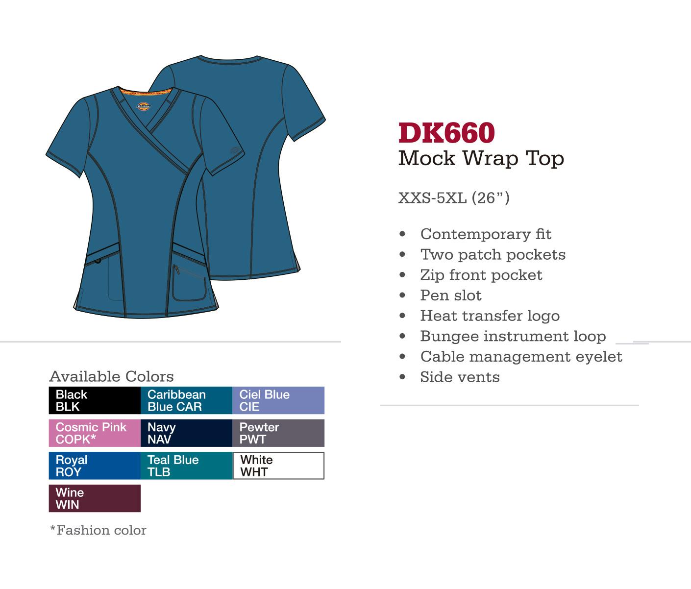 Parte Superior Mock Wrap. DK660.
