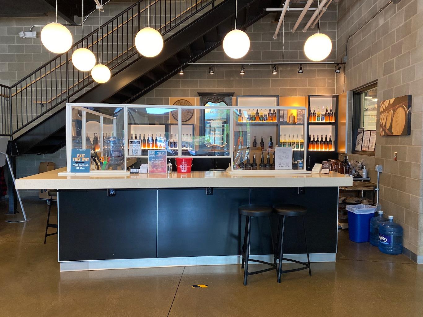 New Riff Distilling Gift Shop Tasting Bar