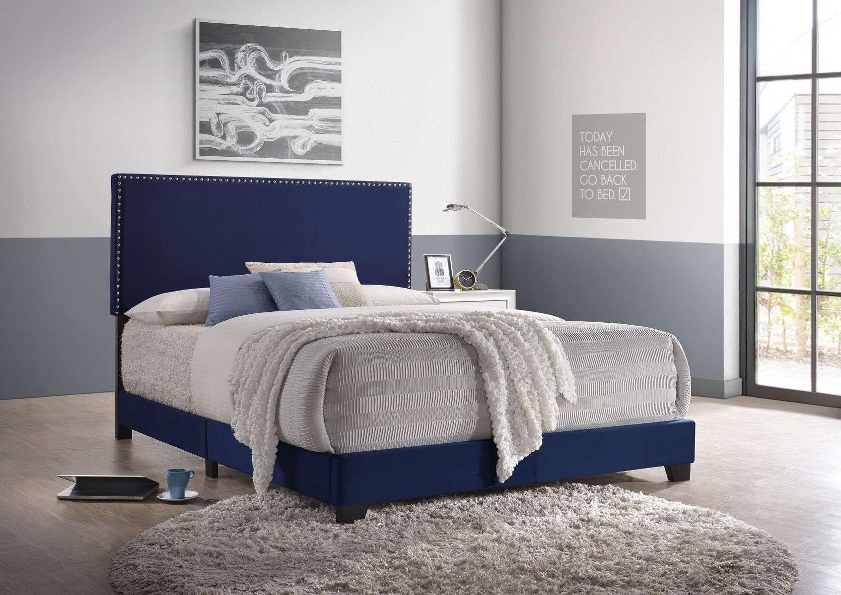 5271VLNV-NH Erin Bed Navy