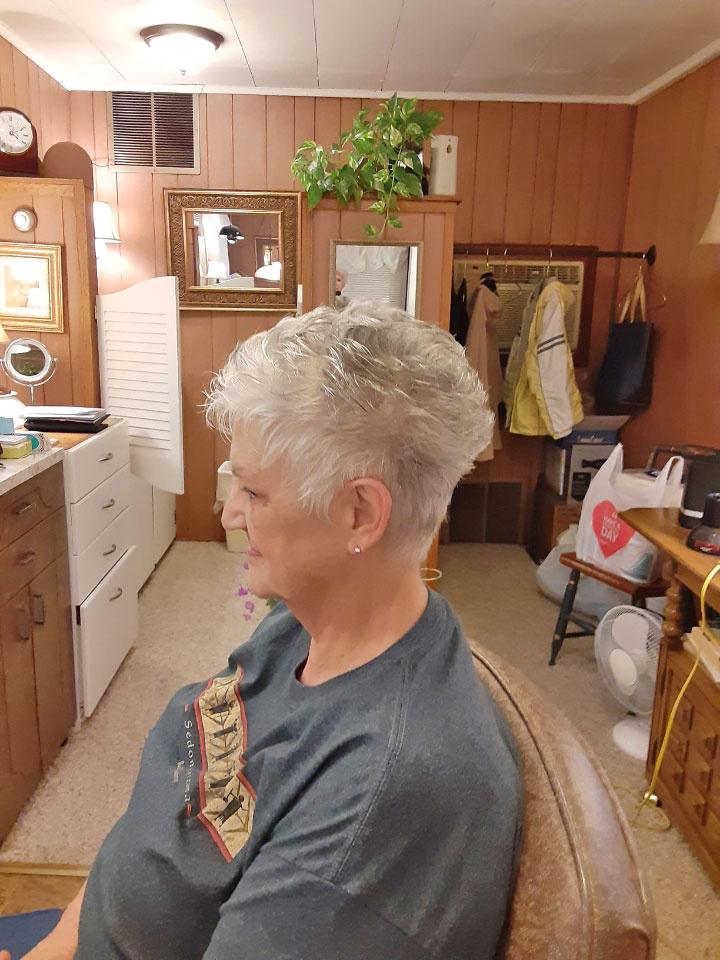 Short White Hair