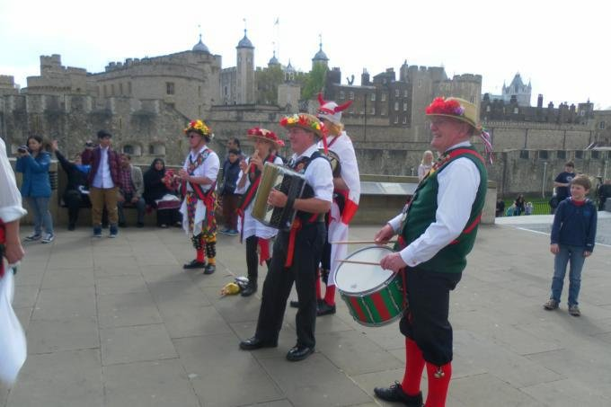 The Band outside the Tower of London