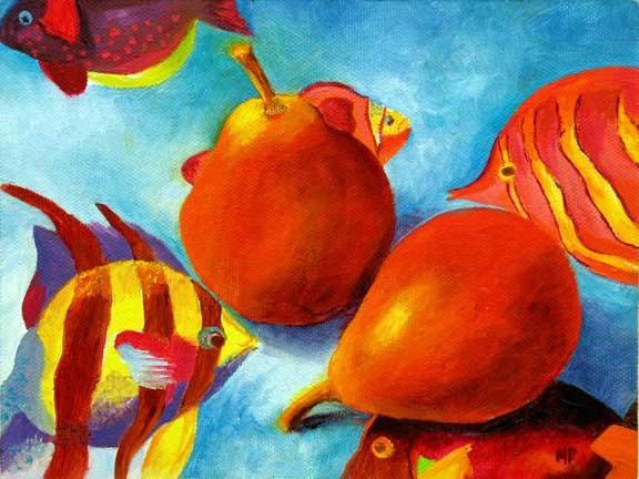 """Fishin' Around - 6""""x8"""" Oil on Canvas Panel"""