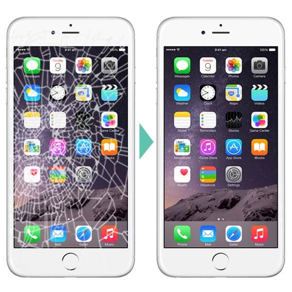iPhone before and after repair