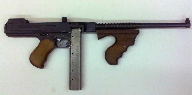 This 1927A Thompson semi-auto came into our shop completely locked up, due to the pivot pin being pulled out incorrectly.