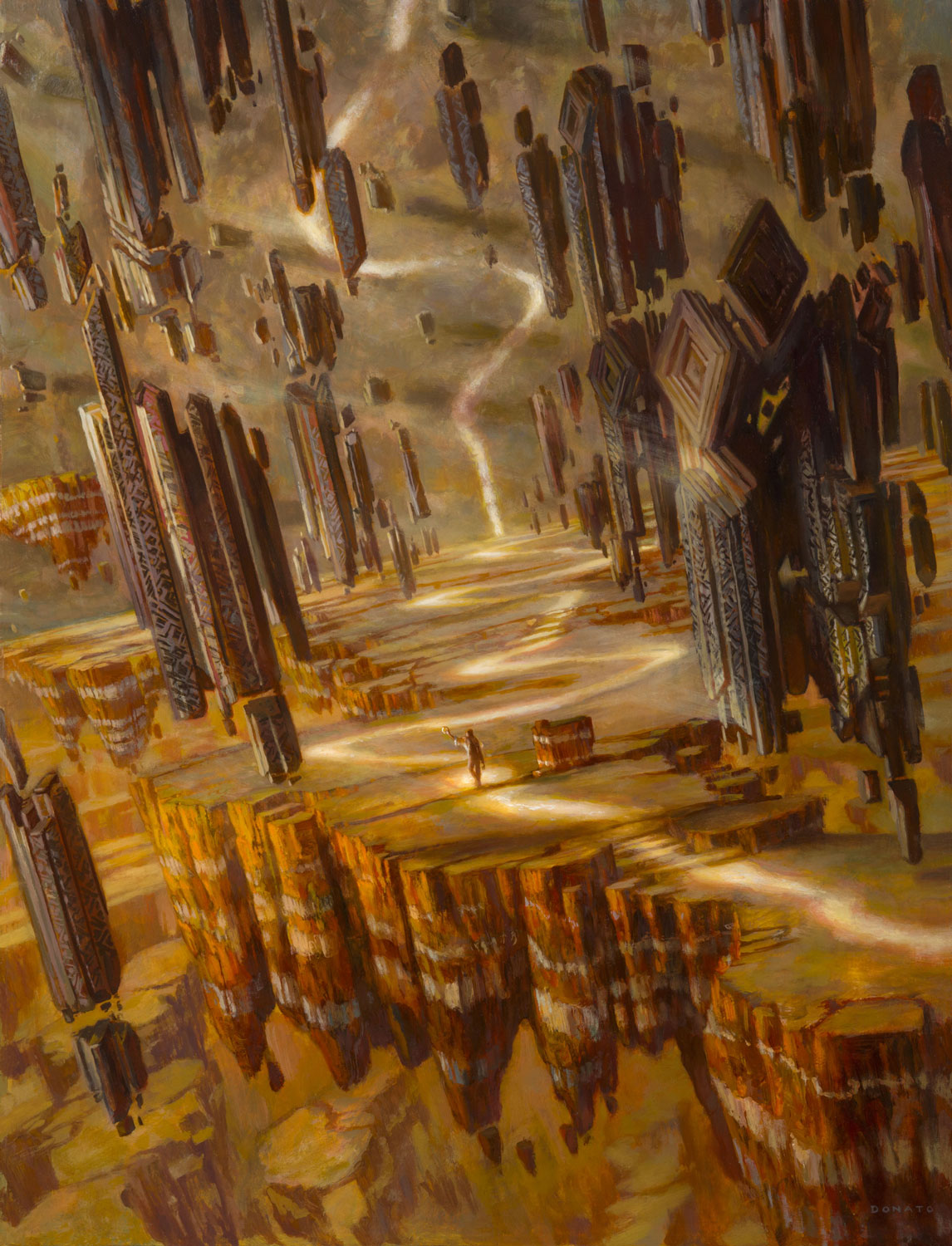 "Brightclimb Pathway Zendikar Rising 24"" x 18""  Oil on Panel private collection"