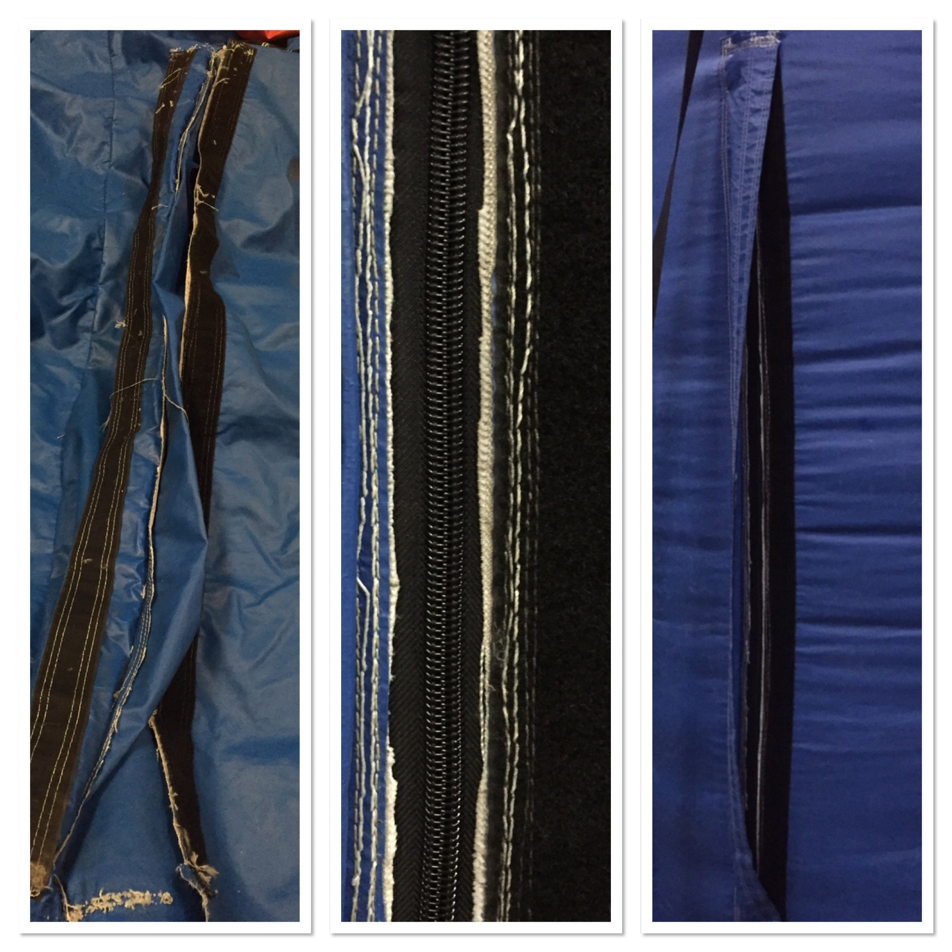 Zipper Replacement - Before and After