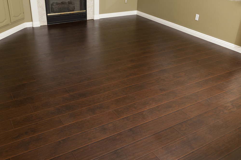 Dark Cherry Brown Hardwood Floors
