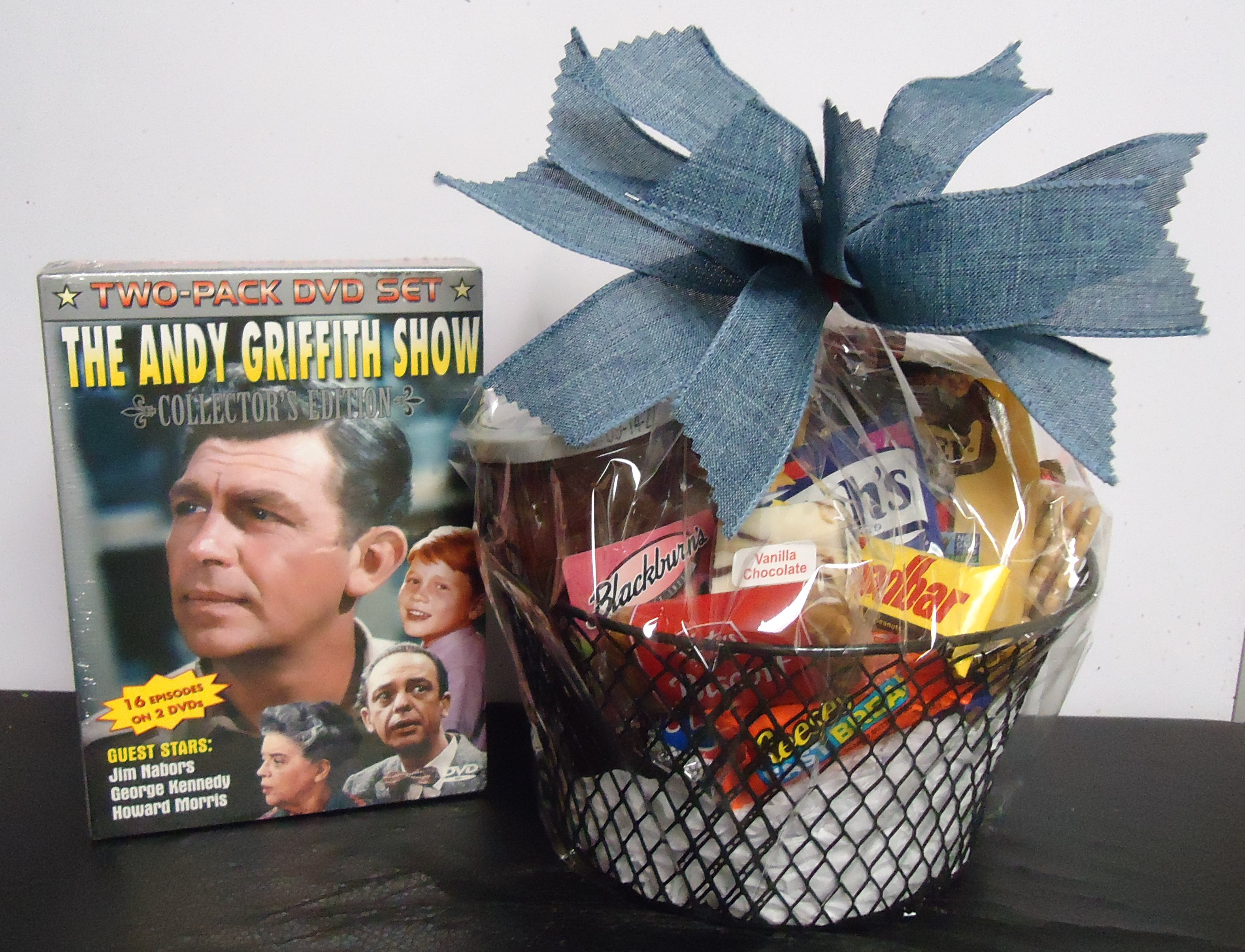 (10) Goodie Basket W/ DVDS (Andy Griffith Show) $40.00