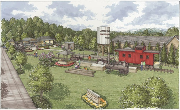 Artist's Rendering of the Museum Grounds and Exhibits