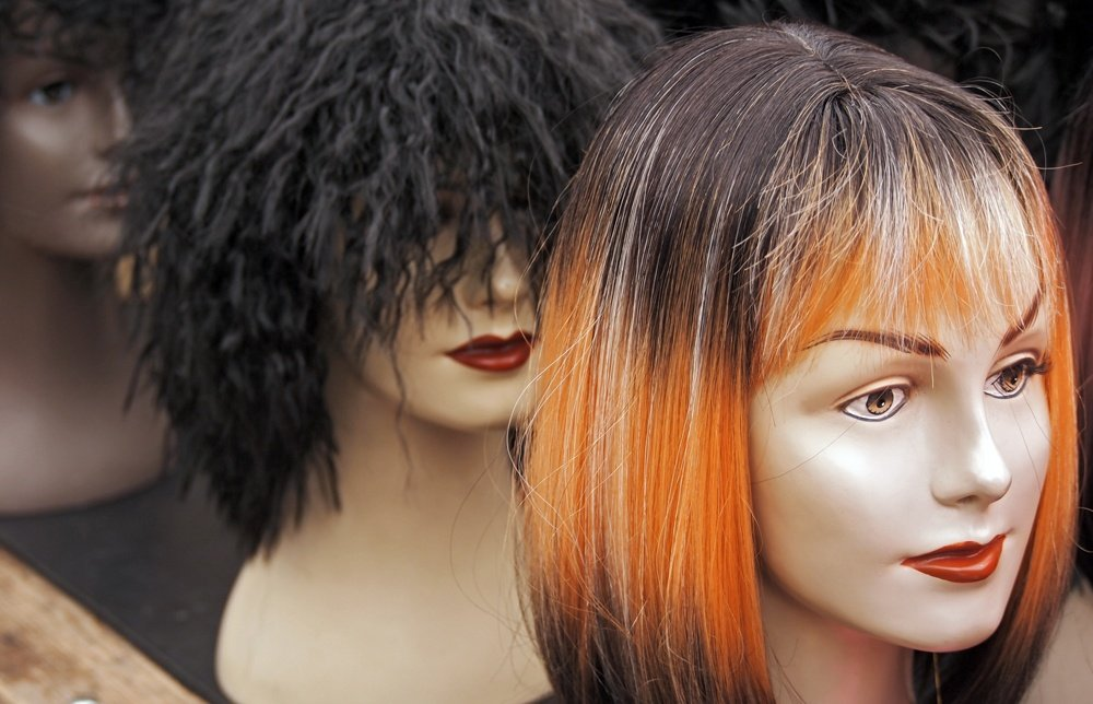Different color wigs