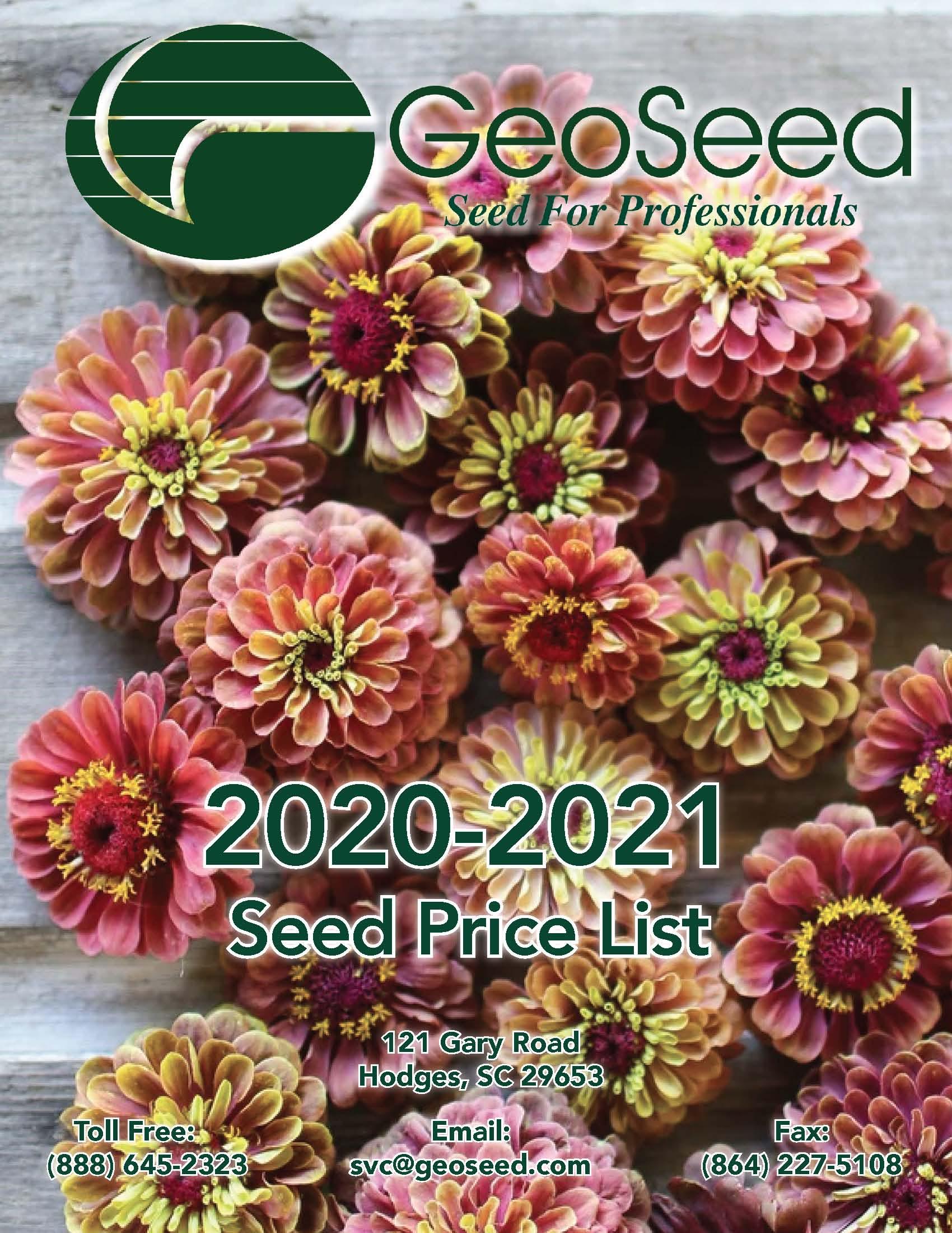 GeoSeed Catalog 2020