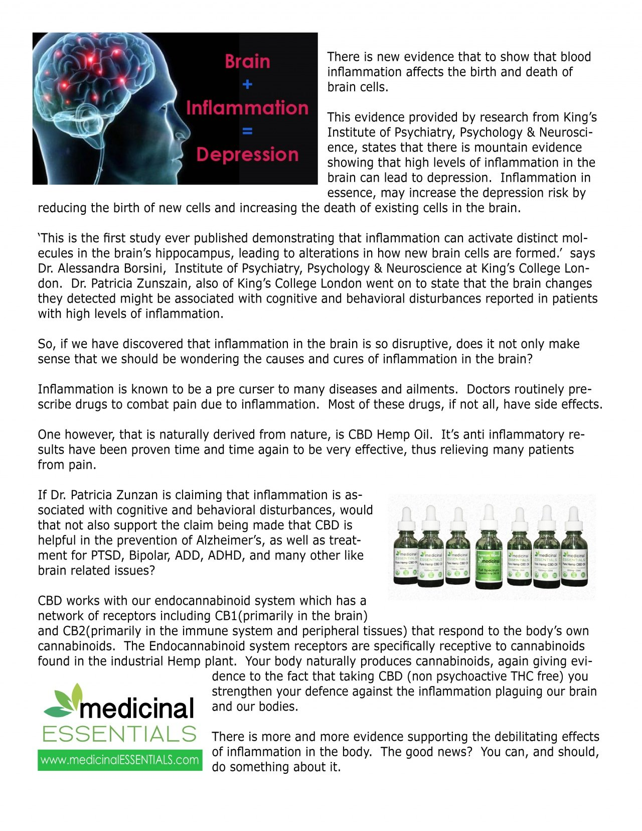 medicinalEssentials - Brain Inflammation Can Cause Depression