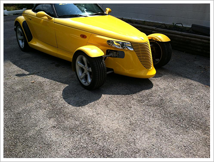 Front view of the prowler    