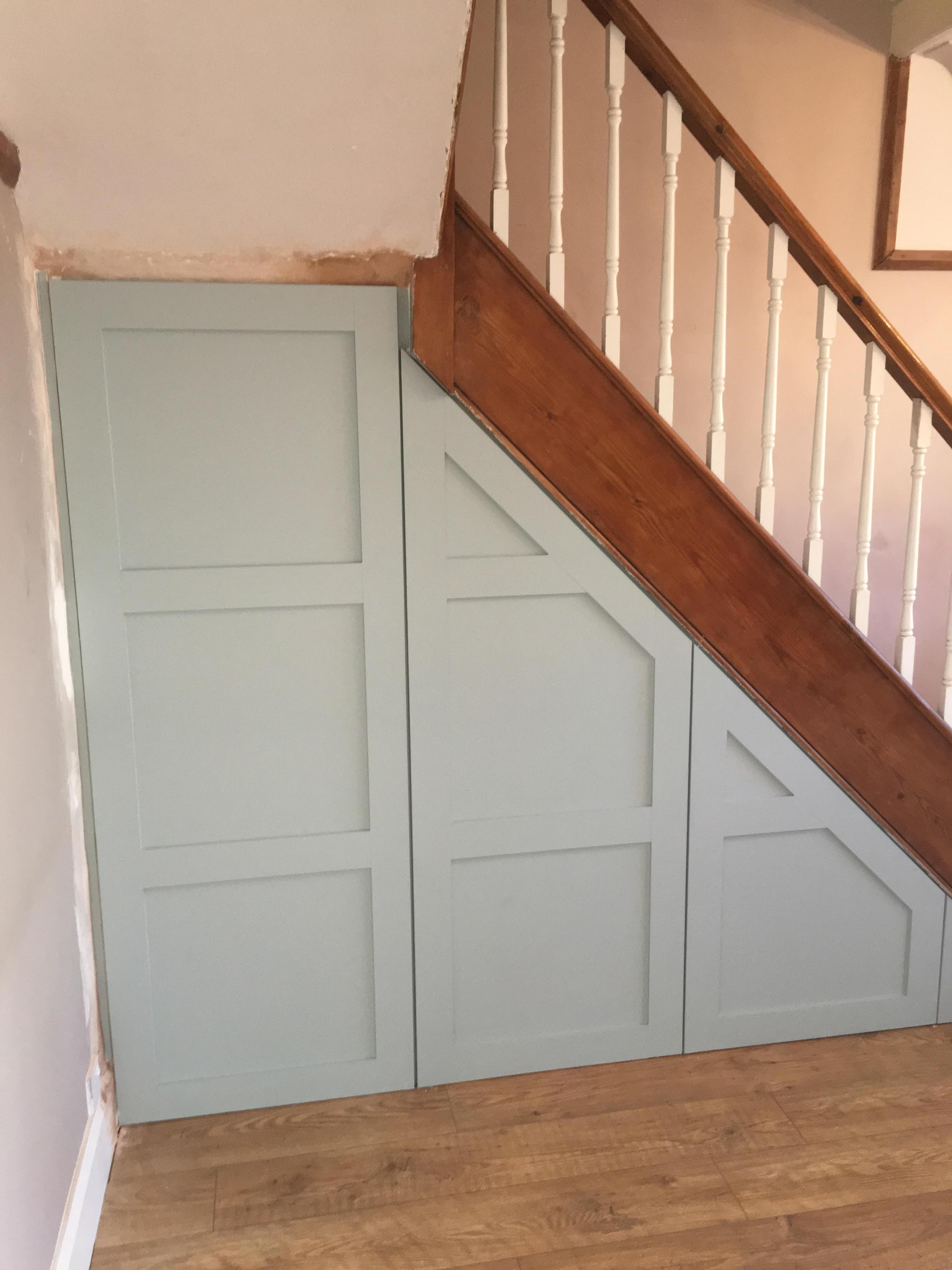 Bespoke understairs cupboard doors