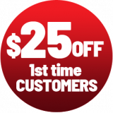 $25 Off - 1st Time Customers
