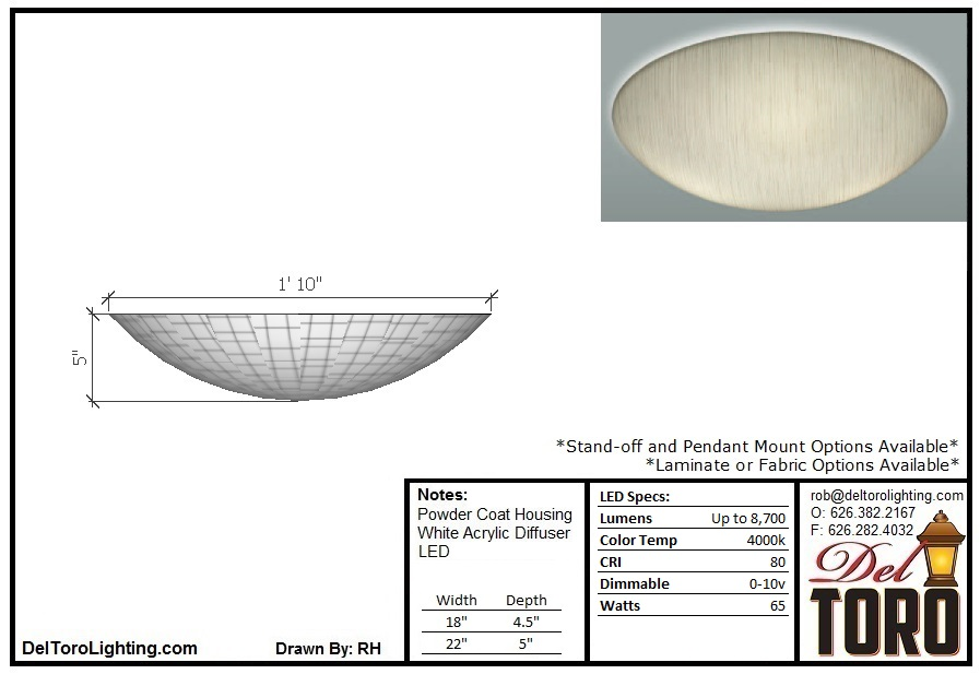 410C-Laminated Bowl Ceiling Mount