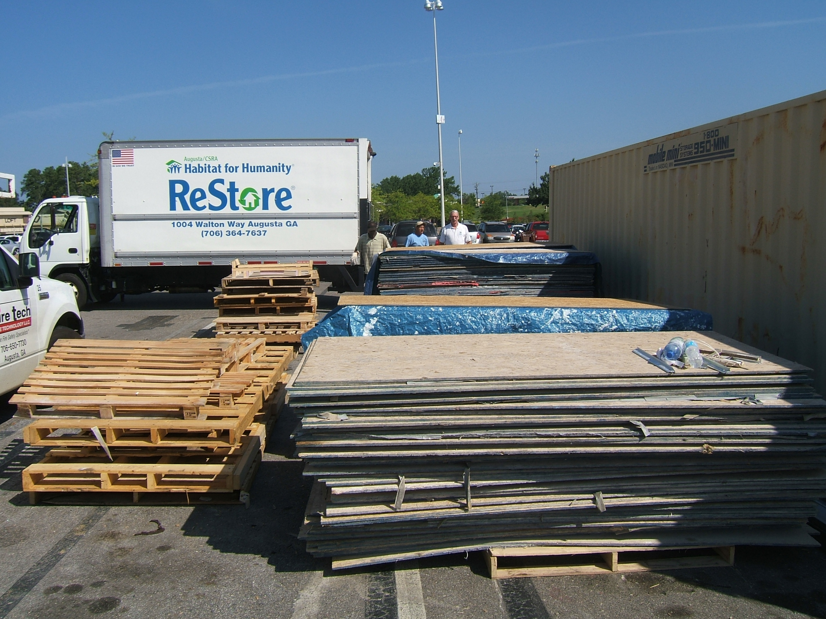 JMW Tile donating materials to be used