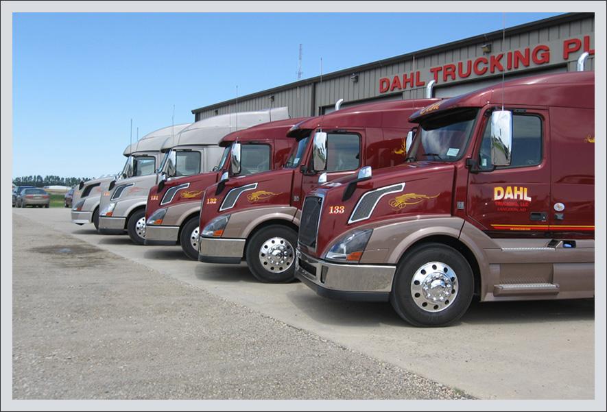 Line up of trucks    