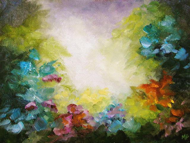 "Joyful Garden - 6""x 8"" Oil on Stretched Canvas SOLD"